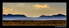 Silhouetted mountains (Michel MATTE) Tags: afriquedusud nature paysage greatkaroo karoonationalpark westerncapeprovince southafrica landscape mountains silhouette