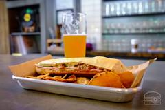 """Cubano"" - Pork Belly, Ham, Dijon, Swiss, Pickle - Street Food Kitchen (sheryip) Tags: food foodporn morgantown wv wvu sher yip cubano pork belly street kitchen short story brewing"