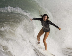 Big wave (San Diego Shooter) Tags: surfer surfing sandiego pacificbeach surfergirl