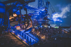 Great atmosphere at Melt! Festival 2018 (mripp) Tags: art vintage retro old atmosphere concert festival melt ferropolis blue night nacht sony alpha 7rii voigtlander nokton 40mm f12