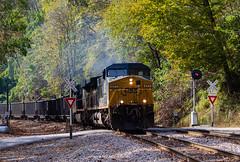 North Loyall (Kyle Yunker) Tags: csx ge general electric ac4400cw ac44cw searchlight signal loyall train