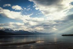 Rays of light (mabuli90) Tags: lofoten norway sea sunlight clods snow beach sand