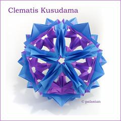 Clematis Kusudama (polelena24) Tags: origami kusudama kankichi clematis modular