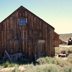 Hard Times (nedlugr) Tags: california ca usa bodiestatehistoricpark bodie ghosttown ruraldecay ruralwest rustic weatheredwood window door barn shack shadows smokyskies monocounty