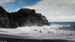 Iceland - Breakers, Cape Dyrholaey (IanLyons) Tags: beach breakers concepts capedyrholaey coastline europe iceland kirkjufjarabeach landscape places reynisfjara rocks sand sea seascape shoreline southregion surf vik water waves photography scenic view vista