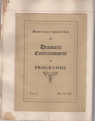 1920: May Programme 1