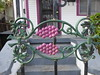 Grapes on the gate (yooperann) Tags: shotgun house new orleans neighborhood purple grape design gate steps door