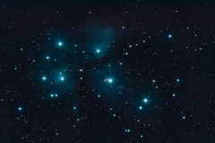 """M45 - The Plejades also known as """"The Seven Sisters """" (Bjoern Schmitt) Tags: astro astrophotography space theplejades m45 sevensisters stars nebula nebulae night gas"""