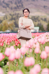 happy earth day (Samir D) Tags: maitree eos canon markiii 85mm12 wife tulip abbotsford pink bloom samird vancouver vancity indian canada northamerica spring