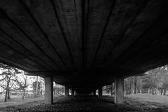 Back to work (GDDigitalArt) Tags: urban blackwhite monochrome concrete road bridge
