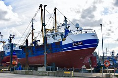 TN37 Philomena  - Fraserburgh Harbour Scotland - 19/4/2018 (DanoAberdeen) Tags: philomena tn37philomena shipbuilders boatyard fraserburghharbour trawlermen fraserburgh danoaberdeen nikond750 nikkor fish fishing fisherman seafarers trawlers tug tugboat scotland autumn summer winter spring clouds bluesky salmon haddock cod scallops candid amateur northeastscotland maritime northsea aberdeenshire grampian metal tn37 harbour trawler winte 2018 trout mackrel fishingboat nikon aberdeen shipspotting fishauction bonnyscotland fishtown fishingvillage thebroch broch fraserburghscotland dock boat ship vessel scottishtrawlers fishingtrawlers whitefishport whitefish shellfish creels