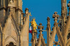 Duomo,Milan (elizabeth_melissa) Tags: city milano milan woman focus focalised blue sky gold italy monument important tradition color comment prefer preferiti love flag culture