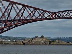 Inchgarvie (Fraser P) Tags: scotland southqueensferry bridges forthbridge estuary crossing cantilever historic worldheritage engineering iconic westlothian edinburgh