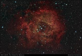 NGC2237, the Rosette Nebula (2018-07-21 edit)