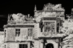 Poltalloch House (Shot Yield Photography) Tags: scotland uk greatbritain british scottish poltalloch house mansion manor poltallochhouse history historic ruins exploration derelict dereliction decay abandoned premises building architecture remains creepy scary spooky eerie place haunted dark mystic mysterious atmosphere shot yield foto photo image black white bw monochrome ir infra red infrared photography shotyieldphotography