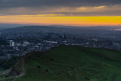 Golden Skies On The Hill (JH Images.co.uk) Tags: london hdr dri arthurs arthursseat clouds sunset hill city skyline cityscape edinburgh edinburghcastle castle