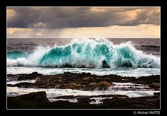When the Indian Ocean hits the rocks (Michel MATTE) Tags: afriquedusud paysage nature southafrica westerncape gardenroute tsitsikamma nationalpark sanparks indianocean ocean sea water turquoise wilderness colorful