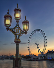 London Sunrise (Sam Codrington) Tags: greatphotographers westminster england dawn day canon5d lantern countyhall westminsterbridge londonarchitecture londoneye riverthames gaslamp london river sunrise streetlight sky millenniumwheel bluehour architecture buildings places gaslantern unitedkingdom gb