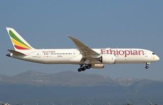 Ethiopian Airlines ET726. ET-AUO. Boeing 787-9 Dreamliner. GVA.