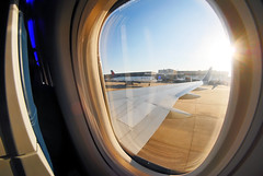 Leaving the Gate (Infinity & Beyond Photography) Tags: atlanta 8mm samyang fisheye atl airport cabin window view