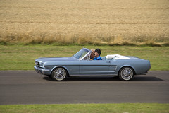 Mustang (Peter Storr) Tags: croft motor circuit racing car cars sports race track nostalgia weekend 2018 parade classic mustang blue soft top drop open