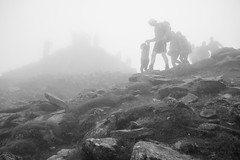 Summit (cybertect) Tags: carlzeissdistagont35mmf28mm gwynedd mountsnowdon snowdon snowdonia sonya7ii wales blackwhite blackandwhite cloud mist monochrome mountain summit