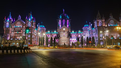 Victoria Terminus (Fedroff) Tags: travel india indian city cityscapes landscape town architecture dusk night sony alpha 6000 mumbai railway station