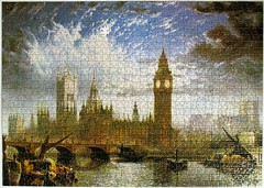 The Houses of Parliament (pefkosmad) Tags: jigsaw puzzle hobby leisure pastime used secondhand missingpieces incomplete housesofparliament johnmacvicaranderson painting art