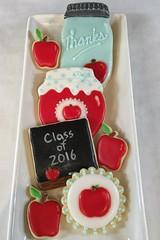 Teacher Cookies (Nadia Bakes) Tags: masonjar jar backtoschool apple chalkboard cookies teacher