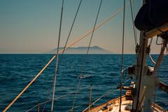 Land ahoy................. (Dafydd Penguin) Tags: sailboat cruising sail boat yacht yachting crusie odyssey boating island isola ile mediterranean ionian sea water greece greek italy leica m10 7artisans 50mm f11