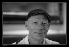 _8107943 mf b&w 01 (Michael Fleischer) Tags: bokeh portrait friend mood curiosity sigma 105mm f14e art