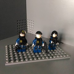 Lego Military - SWAT Super Secret Police (Parm Brick) Tags: lego military minifigures army weapons gears firearms scout support assault special task force vip secret service pilots custom afol moc mod