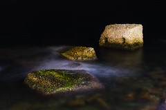 Stones in Water 1 (panos_adgr) Tags: nikon d7200 long exposure night photogrphy tripod water sea rocks drapetsona attica greece colours stones motion low light
