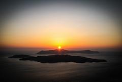 Sunset memories (Rabican-BUSY) Tags: santorini greece island sunset colorful kammeni volcano crater sea aegean memories greekislands summer blue view breathtaking azmarina azmarinatanzir horizon harmony