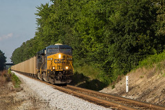 CSX T802-17 at Wyvern Yard (travisnewman100) Tags: csx train railroad freight unit coal es44ah ge etowah subdivision atlanta division wyvern yard t802 ooc rr 4180 locomotive