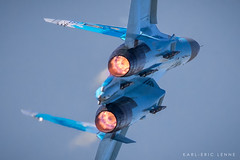 58- Ukraine Air Force SU27   FFD (Karl-Eric Lenne) Tags: suckoi 27 58 ukraine air force afterburner riat blue fairford airforce russian aviation plane airplane
