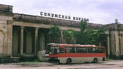 Abkhazia, Sukhum's railway station (Jude_Crew) Tags: abkhazia sukhum abandoned ussr zenit helios fujifilm c200