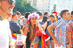 Madrid (kirstiecat) Tags: woman mujer espana spain madrid people strangers beautifulstrangers pride gayrights canon street