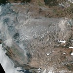 Fires in California and Smoke Throughout the West, Suomi NPP thumbnail