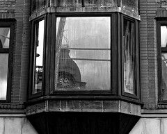 Time Reversal. Feb 2018 (SimonHX100v) Tags: blackandwhite blackwhite monochrome monotone greyscale grayscale bw bnw reflection reflections mirror mirrorimage simonhx100v sonyhx100v