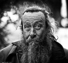 Warlock or Wizard ? (Neil. Moralee) Tags: middevonshow2018neilmoralee neilmoralee man face portrait stare surprise wild dean aggett blacksmith warlock wizard mid devon show middevonshow majic witch rural metalwork beard candid mature old neil moralee nikon d7200 close bw blackandwhite bandw mono forge work tiverton knighthayes spell curse hex sorcerer craft skill