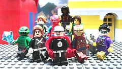 The Rangers (Updated) (Capcranium) Tags: mars martian russia russian mother scifi fiction science speedster speed flash dash fire flame bulk knight emerald emeraldknight bone mech girl man cranium captain justice avengers league for ready battle fight team rangers ranger meta heroes hero's hero human super lego