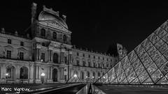 Paris by night (MarcEnGalerie) Tags: nocturne longexposure balade poselongue lelouvre nightly nocturnal pyramidedulouvre paris iledefrance france fra