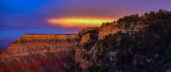Grand Canyon Mather Point (phillipjv) Tags: sunset clouds sun crowd nationalpark fire color red vacation road arizona orange puirple summer cliff view landscape purple colorado grand canyon cayon grandcayon west hiking history attraction mather point