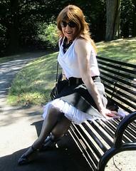 Little Sit Down (Amber :-)) Tags: black sunray pleated short skirt tgirl transvestite crossdressing