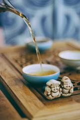 tea (YellowTipTruck) Tags: teaparty bunfight greentea tea crockery dishes pouredtea teagods teatable