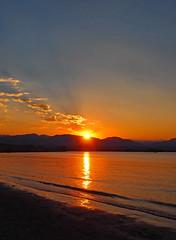 Sunset chasing (oceanzam) Tags: mountains scenery landscape panorama evening dusk lake colorado blue orange summer