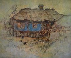 Художник Петро Левченко.  Блакитна хата.