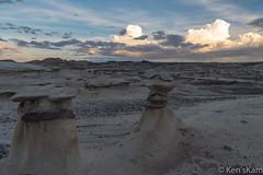 Nature's Handiwork (Ken'sKam) Tags: rain desert clouds cloudy bistibadlands bisti newmexico nature geology landscape hoodoos naturalart naturesartstudio