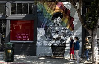Juanita More mural by J. Manuel Carmona